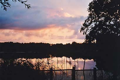 [Sunset over the Lake of Wrechen]