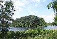 [Blick von der Pension auf den Wrechener See]